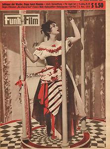 FUNK-UND-FILM-1955-nr-45-NADIA-GRAY-PIER-ANGELI-ELIZABETH-TAYLOR-HORST-WINTER