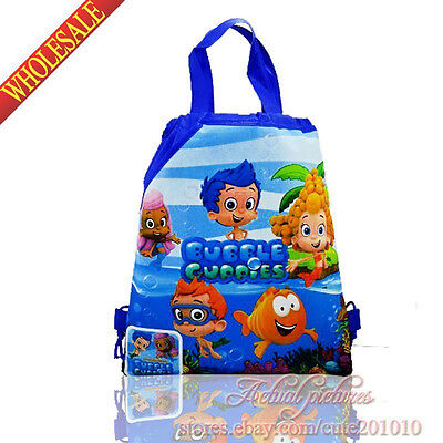 1PCS 2styles Bubble Guppies Kids Drawstring Backpack Bags Kids Handbags gifts