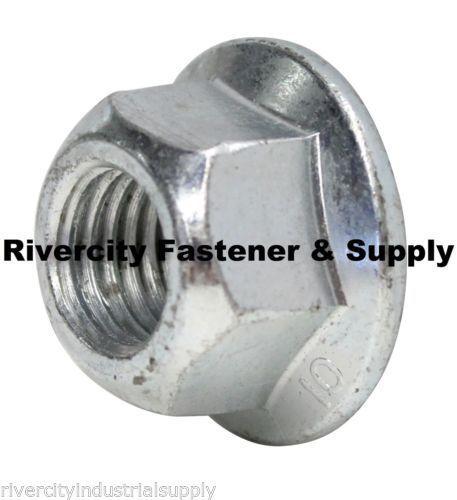 M14-2.0 Metric Hex Flange All Metal Lock Nut Class 10 DIN 6927 Zinc Plate 25