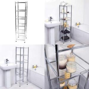 Chrome 6 Tier Bathroom Shelf Organizer