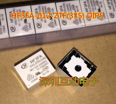 Power Relay 10A 250VAC 5 Pins 10pcs HF3FA 012-ZFT 335