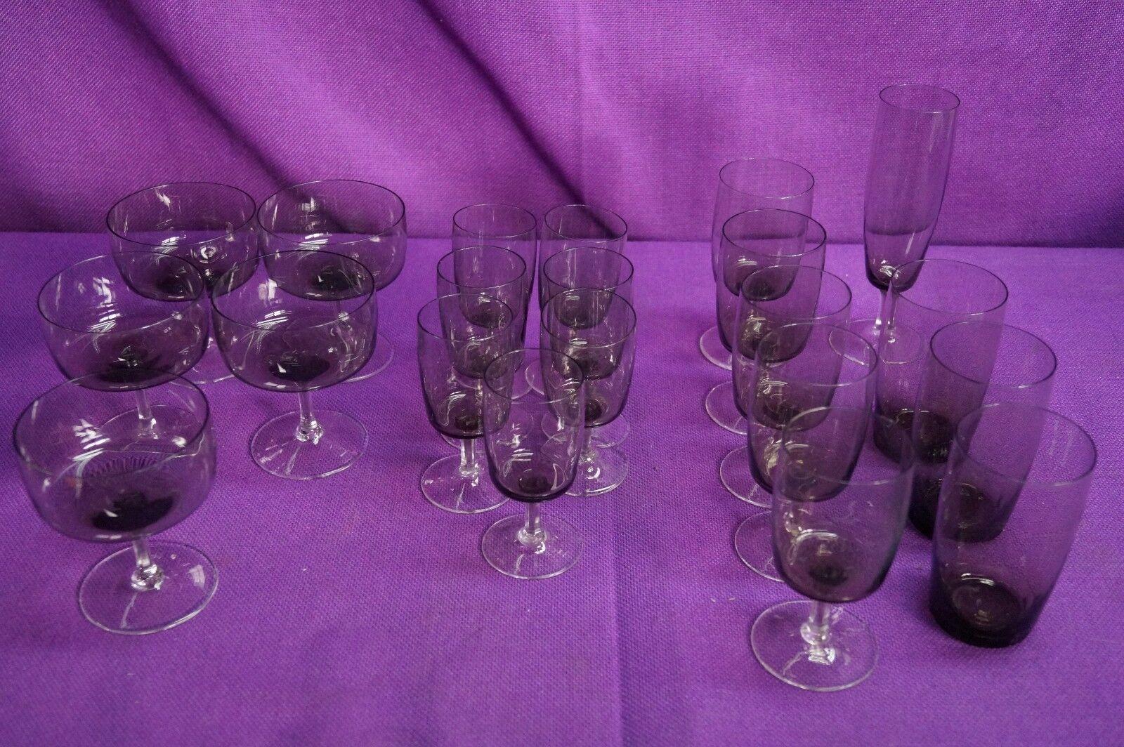 21 Vintage Gläser braun 60er Jahre sehr schön | Günstige Preise