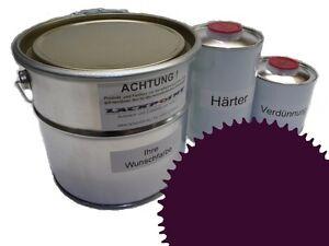 1,5 Liter Set 2K Floor Color Floor Ral 4007 Vinyl-Epoxid-Lack Lackpoint Shine