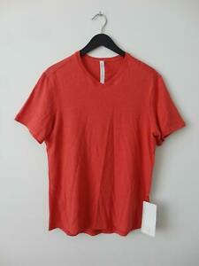 NWT LULULEMON HAMR Orange Red Pima Cotton 5 Year Basic V
