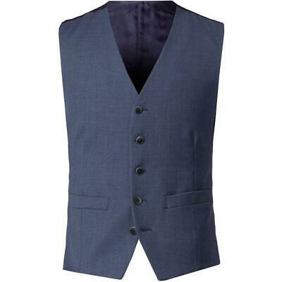 "100% Vero Aston & Gunn Blu Melange Slim Fit Stretch Tuta Navybutton Up Gilet Uk 44"" * 2-mostra Il Titolo Originale"
