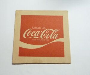 Vintage Coca-Cola Coke Soda Promo Clear Plastic Logo Key Chain New NOS 1990s