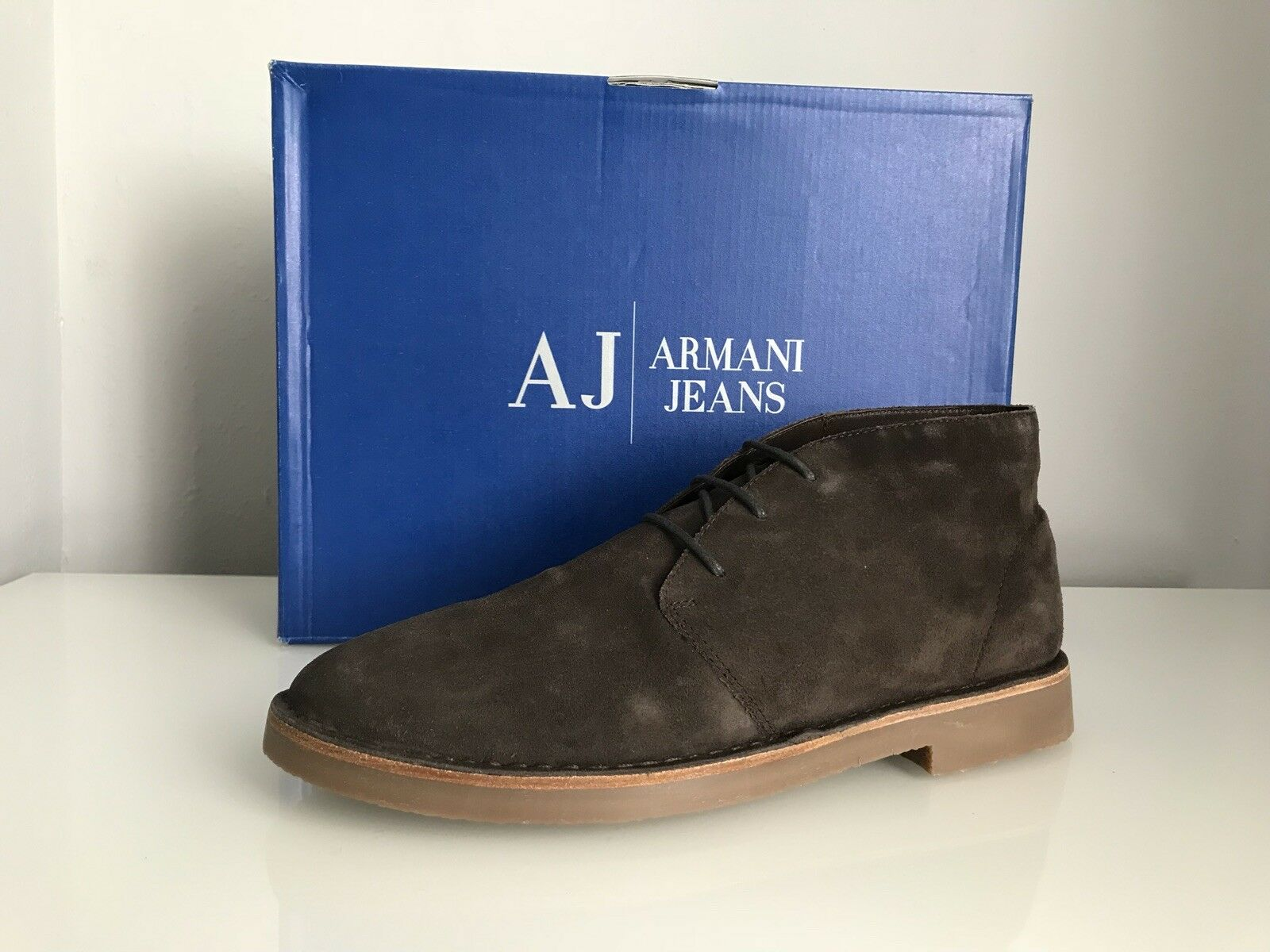 Armani Jeans Desert Lace Up Ankle Stiefel Stiefel Ankle In Braun Suede 935056 / CC510 Größe UK 9 379c72
