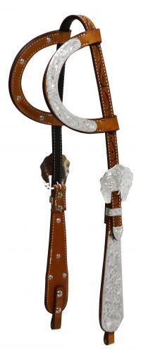 WESTERN SADDLE HORSE PREMIUM LEATHER BRIDLE TWO 2  EAR HEADSTALL MEDIUM BROWN  cheapest