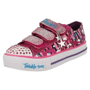 c5aca493aad ... filles-Twinkletoes-SKECHERS-riptape-baskets-enfants-Paillette-N-