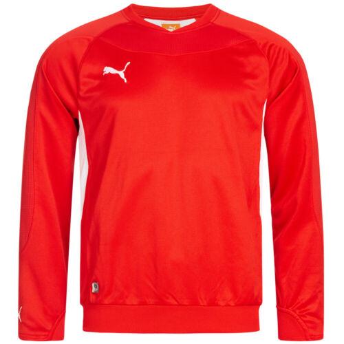 PUMA PowerCat 1.10 Herren Sport Trainings Fußball Sweatshirt 652059-01 rot neu