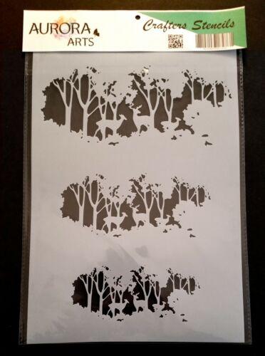 Plantilla por Aurora Artes A4 ciervos en el bosque 190mic Mylar Craft plantilla 086