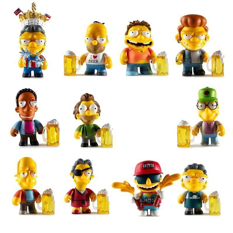 Moe's Tavern serie juego de 11 (sin persecuciones) Vinilo Mini Figuras KIDROBOT X SIMPSONS