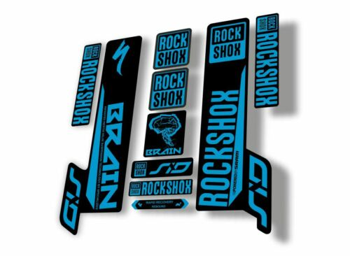 Rock Shox SID Brain 2018 Mountain Bike Cycling Decal Sticker Adhesive Blue
