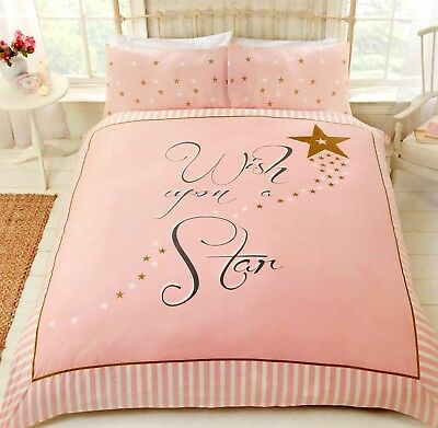 Star Duvet Quilt Cover Reversible Pink, Pink And Gold Star Bedding