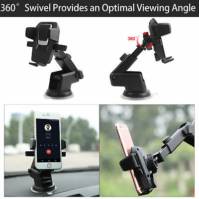 Car Mount PH3 Car Phone Mount Wannap Universal Phone Holder Cell Phone Car Air Vent Holder Dashboard Mount Windshield Mount for iPhone 7 Plus,8 Plus,X,7,6S,6,Samsung Galaxy Note S6 S7 and More