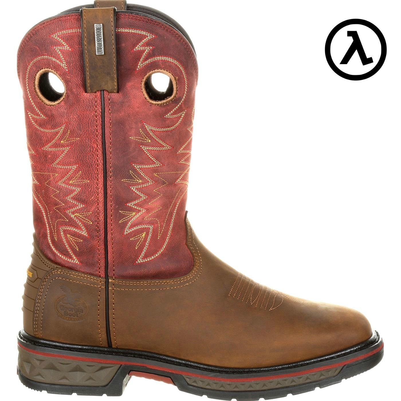 GEORGIA BOOT ALLOY TOE CARBO-TEC WATERPROOF PULL-ON BOOTS GB00222  ALL SIZES