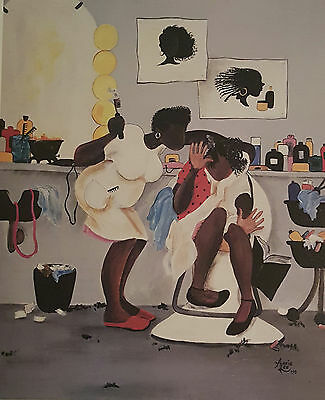 Annie Lee Art Print Burn You Baby Salon Hair/African American Liquidation Sale