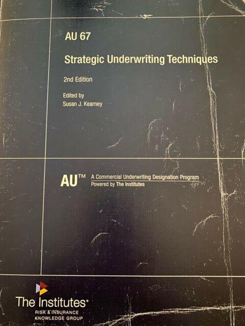 Strategic Underwriting Techniques Au 67 Course Guide For Sale Online Ebay