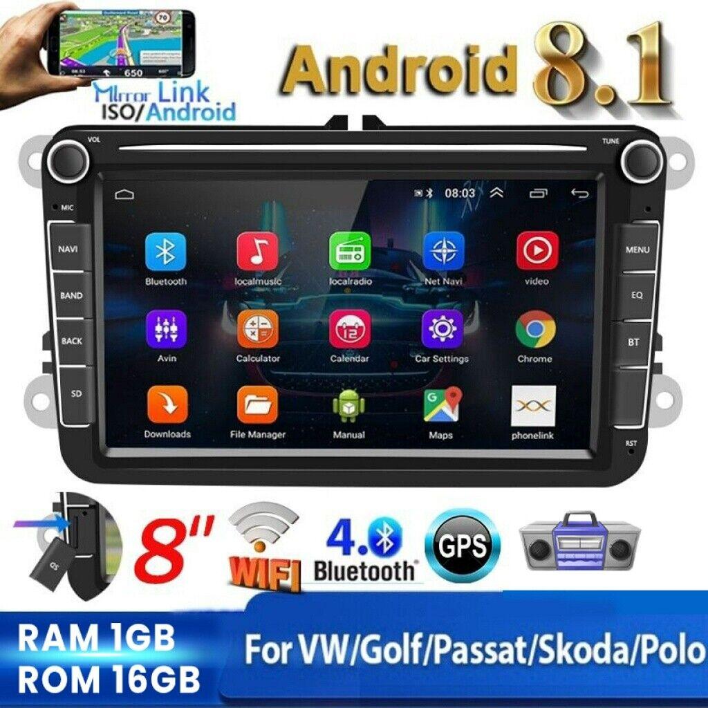 "8"" Android Autoradio Para VW Golf 5 6 Passat EOS Jetta Skoda Seat GPS Navi WiFi"