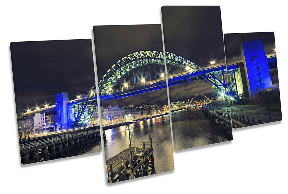 Tyne Bridge Newcastle CITY foto Multi Tela Wall Art Print