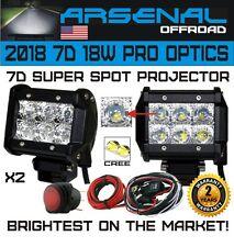 2pc 4 INCH 18W 7D Super Spot Pro Diamond Series CREE LED SUV ATV UTV JEEP T