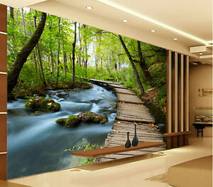 Image Is Loading 3D Wallpaper Bedroom Mural Modern Embossed Scenery TV