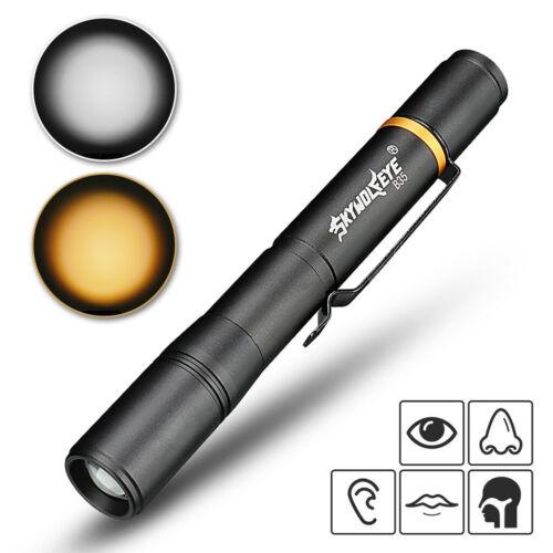 Pen Light Mini Portable LED 3 Mode Lamp Flashlight Torch Dentist Camping Hiking