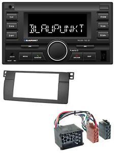 Blaupunkt-MP3-USB-2DIN-Bluetooth-AUX-Autoradio-fuer-BMW-3er-E46-mit-grossem-Navi-R