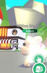Roblox Adopt Me Legendary Neon Fly Ride Nfr Albino Monkey Ebay
