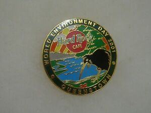 Hard Rock Cafe pin Queenstown World Environment Day 2001 - Kiwi, Lake & Pines