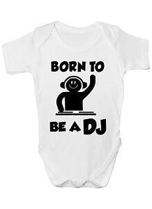 5d78a0589 Nacido To Be A DJ Música Mono Vestido Bebé Ropa Divertida Regalo