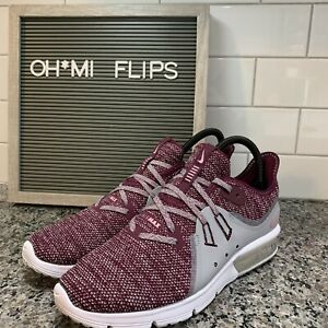 11908d2ce061c Details about Nike AIR MAX SEQUENT 3 Women's Bordeaux/Element 908993-606  Athletic Running 7