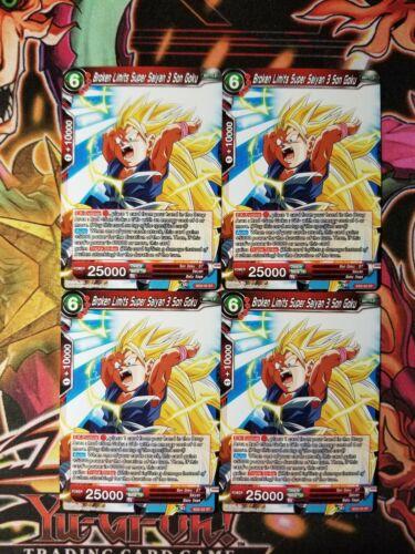Broken Limits Super Saiyan 3 Son Goku 4x SD2-02 ST Dragon Ball Super PLAYSET