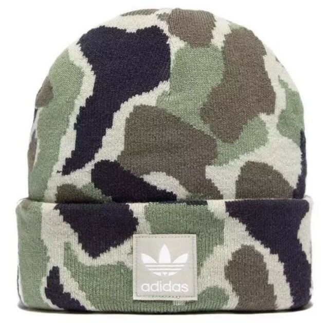 2f2621941f4 Bnwt Adidas Originals Mens Womens Unisex Camo Trefoil Beanie Hat Lovely Item