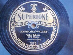 PREWAR-HARMONICA-GUITAR-78-WALTER-PETERSON-WLS-National-Barn-Dance-SUPERTONE