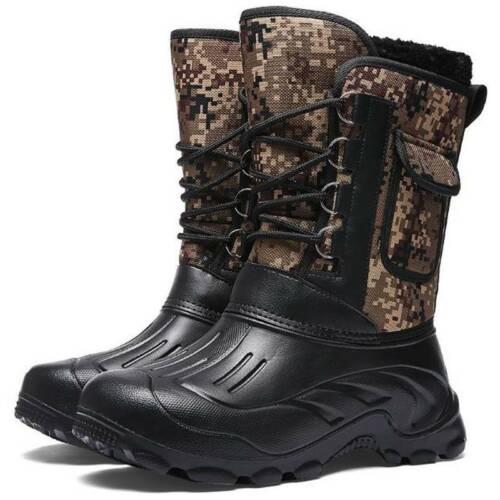 Herren High Top Armee Schneestiefel Militärstiefel Wasserdicht Stiefel Boots DE