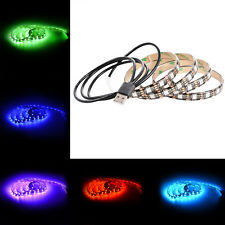 US 1M 5050 60SMD/M RGB LED TV Strip Light Bar Back Lighting Kit+USB Port