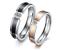 Fedine-Fidanzamento-Coppia-di-Anelli-Incisioni-Personalizzate-Nome-Data-Cristall miniatura 1