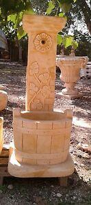 Fontana in cemento e polvere di marmo da esterno giardino a colonna moderna ebay - Fontana a colonna da giardino ...