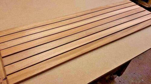 MULTIPLE LENGTHS AFRICAN TEAK IROKO TIMBER BOAT DECK SLATS WOOD 10mm