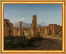 The Forum at Pompeii with Vesuvius in the background kobke Italia B a3 01153
