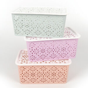 Plastic-Storage-Basket-Box-Bin-Container-Organizer-Clothes-Laundry-Home-Hold-T-amp-X
