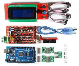 RAMPS-1-4-Set-Kit-pour-RepRap-3D-Imprimante-Mega-2560-5x-A4988-2004-LCD-Arduino