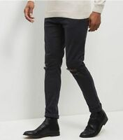 Look Men's Busted Knee Skinny Stretch Jeans, Black - 30s
