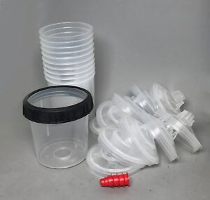3M-16000-16001-PPS-Standard-Medium-Cup-w-10-Lids-liners-4-caps-SHIPS-FREE