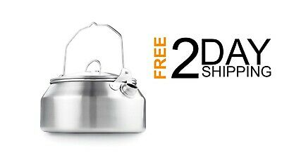 Outdoor Glacier Stainless Steel Kettle 1 Qt Camping Backpacking Lightweight Ebay