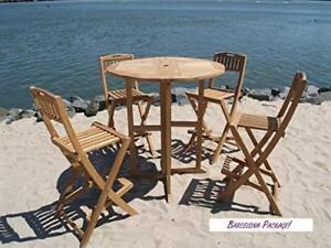 Astounding Details About Windsors Genuine Grade A Teak Counter Set 39 Dropleaf Table 4 Folding Chairs Machost Co Dining Chair Design Ideas Machostcouk