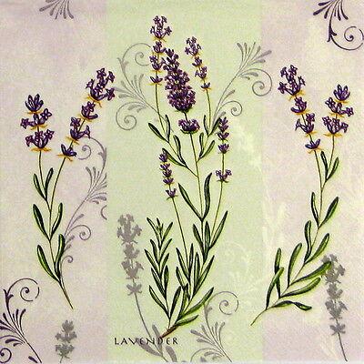 4x Paper Napkins for Decoupage Decopatch Pastel Lavender