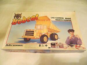Vintage HELLER HUMBROL BOBCAT 1/43 CAMION BENNE WABCO DUMPER 3504 MODEL KIT