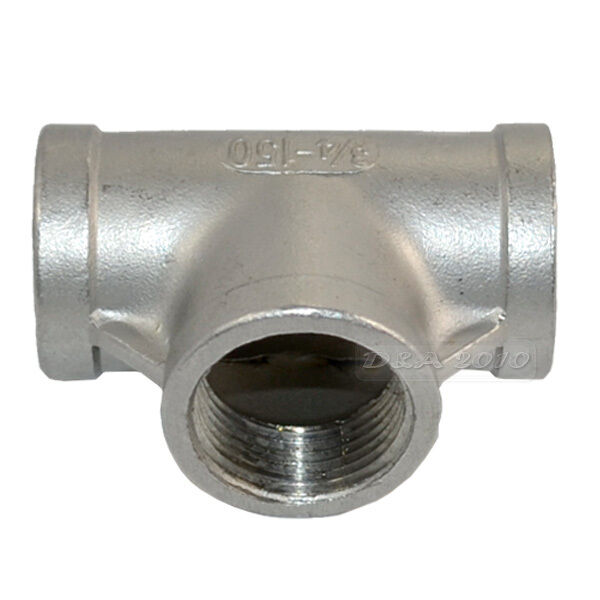 Size : 1//2 CHENTAOMAYAN 1//4 3//8 1//2 3//4 1 BSP Female Thread 304 Stainless Steel Three 3 Way T-Type Ball Valve for Water Oil Gas